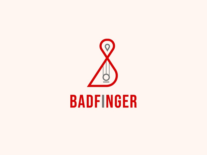 badfinger music logo illustrator web illustration graphic design flat logo icon branding minimal design