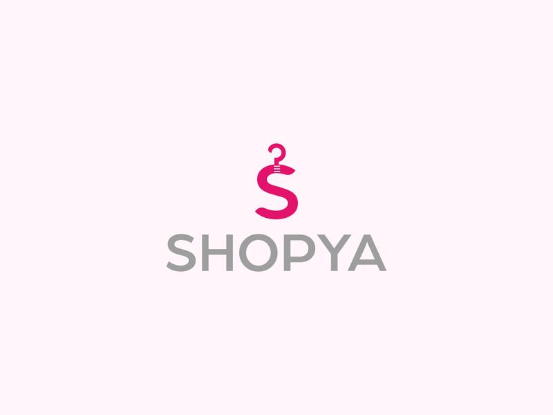 shopping logo flat typography illustration graphic design illustrator branding minimal icon logo design