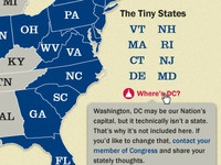 "The Tiny States with ""Where's DC?"" hover"