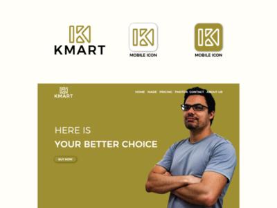 Kmart Logo branding minimalist logo flat logo