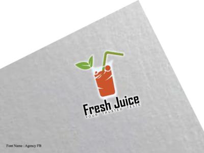 Fresh Juice iconic logo flat logo minimalist logo branding logo brand logo