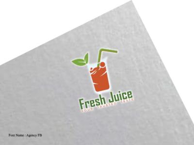 Fresh juice brand logo flat logo minimalist logo iconic logo branding logo