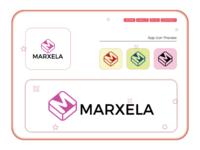 Marxela Logo business logo corporate logo iconic logo minimalist logo flat logo brand logo branding letter logo graphic logo maker gif illustration flatdesign typedesign logomark logo design graphic designer logomaker