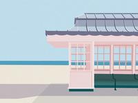 Beach Pavilion Print