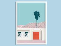 Palm Springs Red Door Print