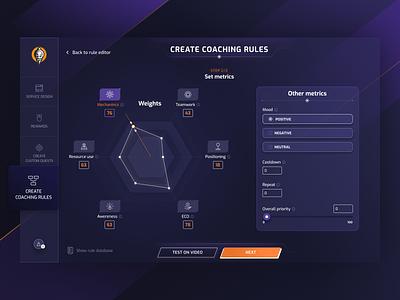 UI design for an E-sport platform form design esport gaming app desktop app uxdesign uidesign