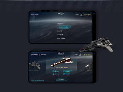 Space Fighter UI concept