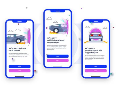 Error illustration for a Car app