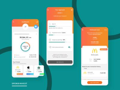 Dashboard design for Spendinvest