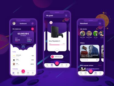 Rocket Money UI concept