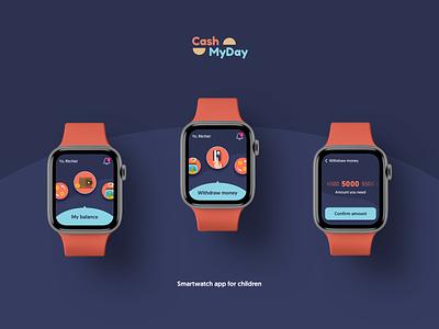 Cash My Day UI concept ux iwatch smartwatch fintech mobile ios concept ui