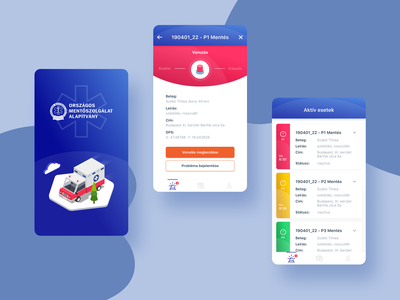 Medical app uidesign mobile splash healthcare isometric cards ui ios fintech govtech