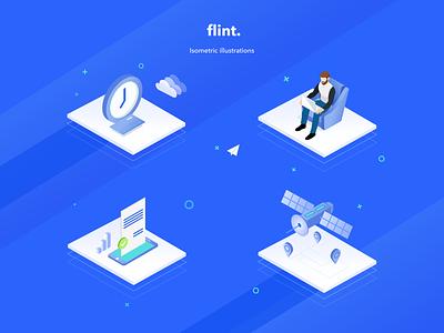 Flint - Isometric illustrations loan appdesign ios ux uidesign mobile isometric ui