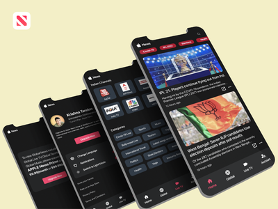 Apple News Redesigned iphone branding app design ios mobile redesign