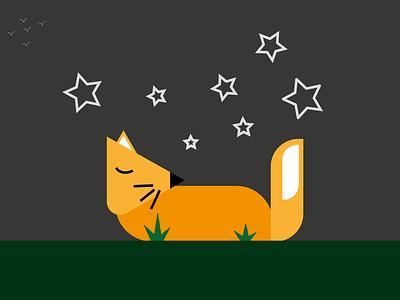 Sleeping Fox design art design uiux vector adobe illustrator illustration