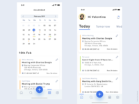 Prompto - Calendar  & To do listing Screen
