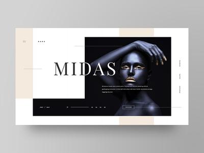 Darc adobe xd web design grid beauty gold design clean minimal fashion web ux ui