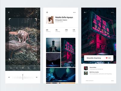 Bild adobe xd simple photography clean minimal camera photo ux ui design app