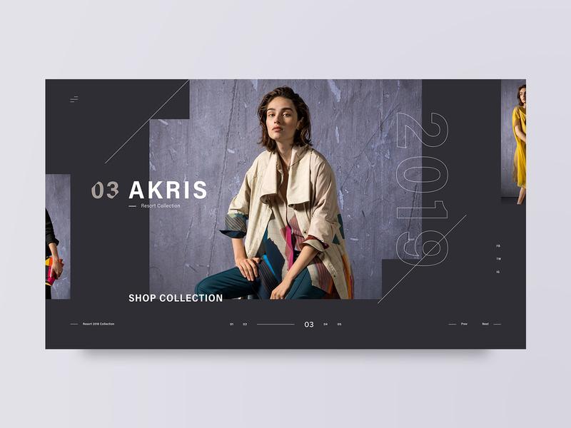 Akris photography fashion layout dark web design design minimal web clean ux ui adobe xd