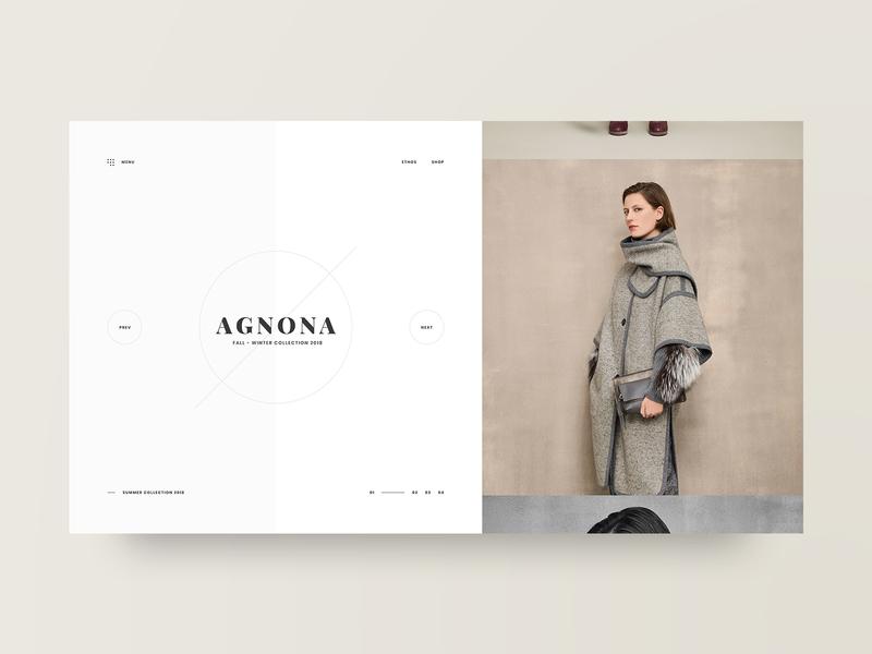 Agnona photography grid fashion layout web design design minimal web clean ux ui adobe xd