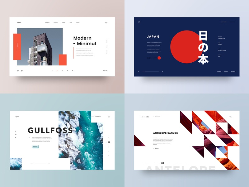 2018 Top shots top shots 2018 architecture photography grid layout web design design minimal web clean ux ui adobe xd