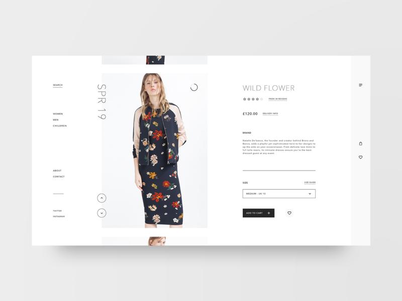Basic shop product card fashion grid layout web design design minimal web clean ux ui adobe xd