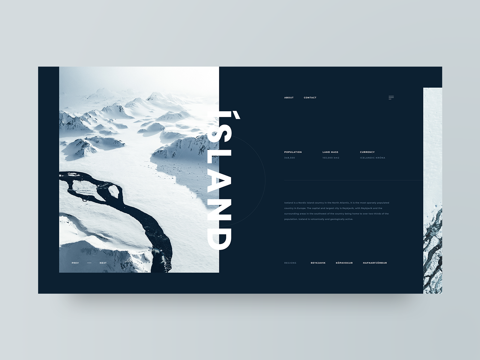 Dribbble preview   island