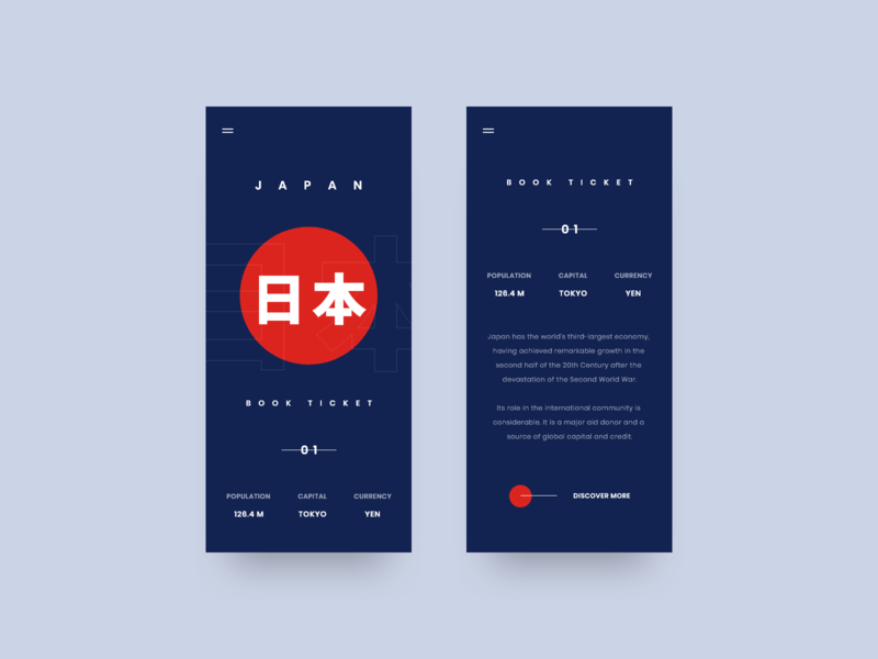 Japan Mobile flag japan travel grid web design layout design minimal web clean ux ui adobe xd