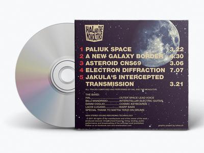 HATM promo cover (back) music cd album cover space moon