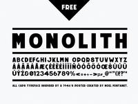 Monolith - free typeface