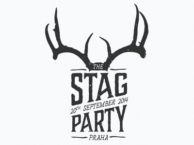Stag Party logo stag party logo vintage typography hand drawn illustration
