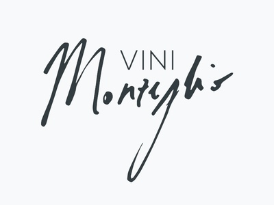 Vini Monzeglio wine signature calligraphy logotype logo lettering handmade