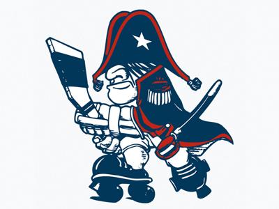 Quad All Stars logo vintage hockey branding identity