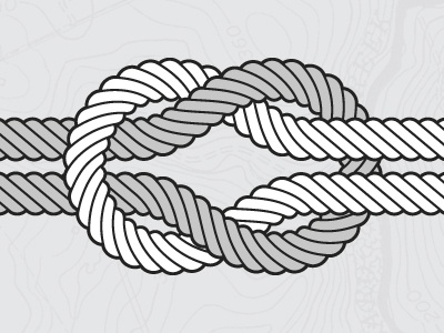 Square Knot illustration map knot vector square knot