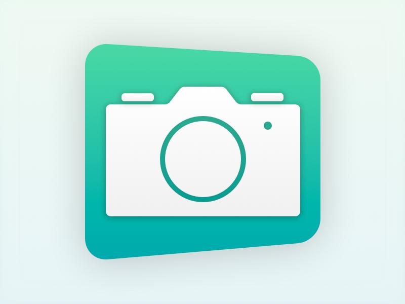 EOS Inspector Icon icon sketch osx os x dslr flat camera minimalist sketchapp photo simple mac