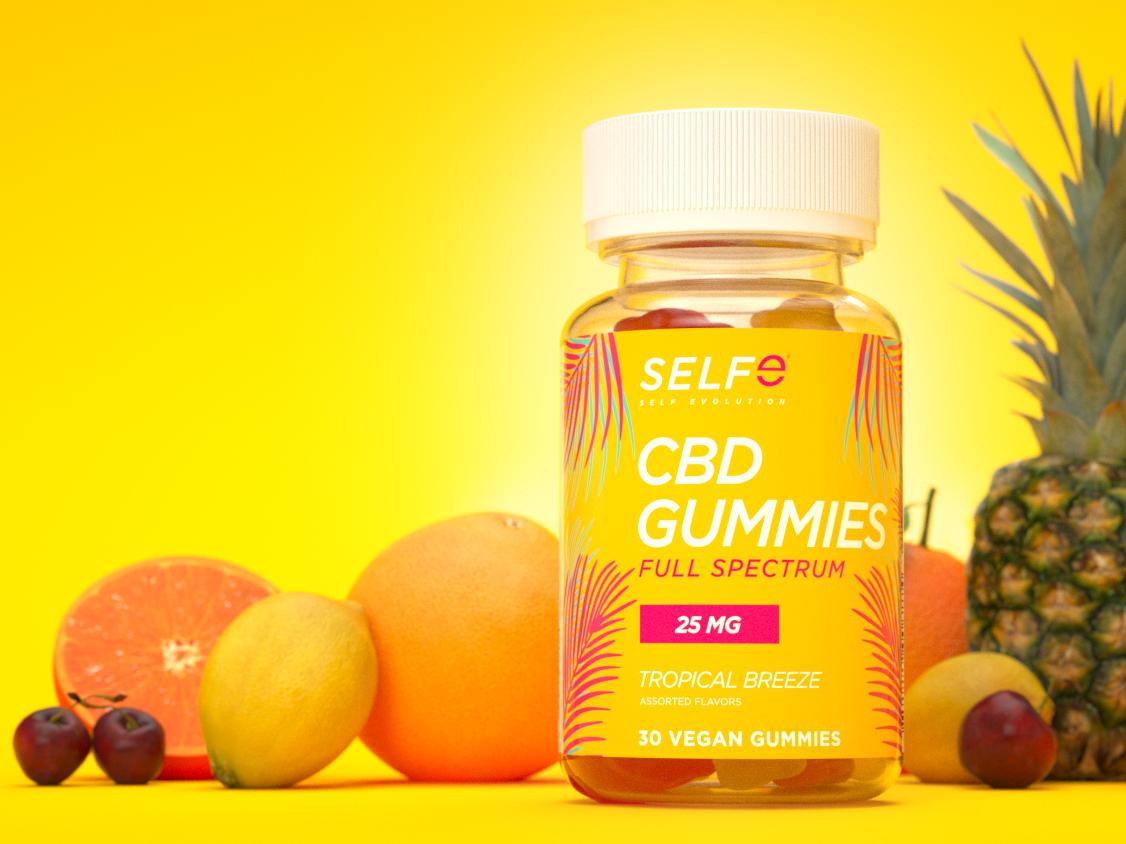 SELFe CBD Gummies package design branding 3d art 3d