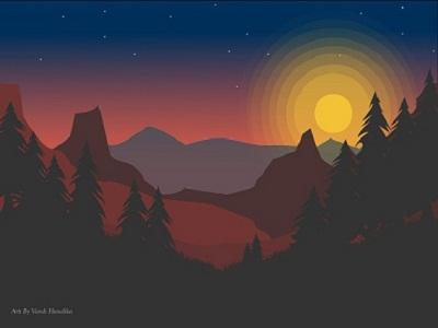 Sunset on Lanscape