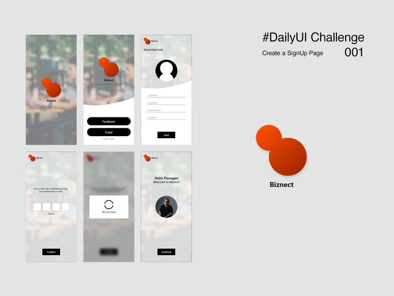 Daily UI 001 : Biznet Signup form