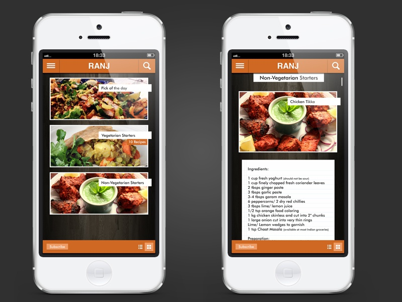 Indian recipe design concept dribbble by amar chauhan dribbble forumfinder Images
