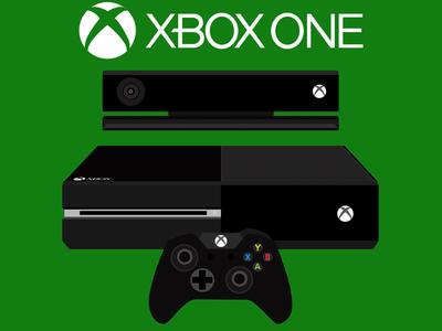 Xbox One Console Flat Design