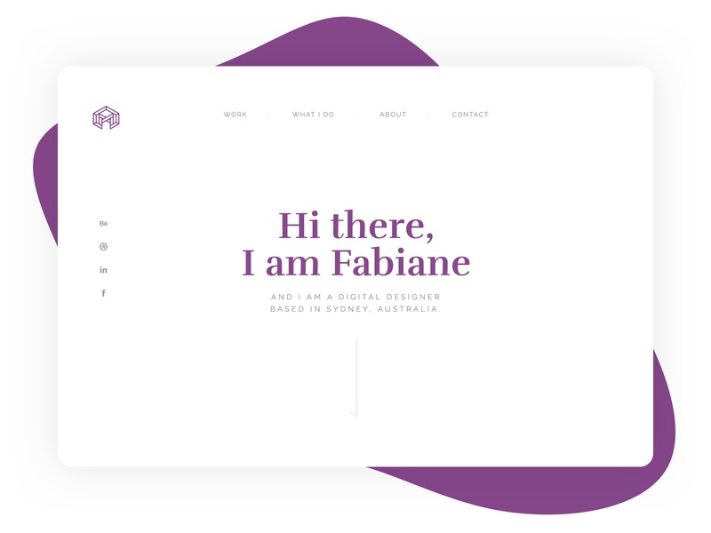 My website portfolio purple logo interface design branding webdesign ui layout minimalist
