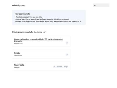 webdesignrepo v4 search page frontend webdesign