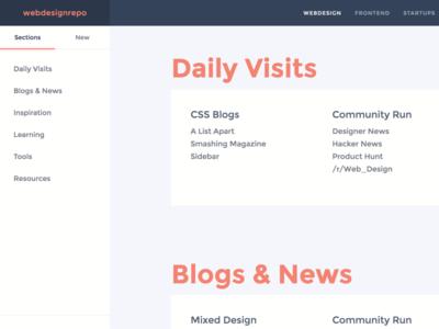 webdesignrepo V2.0 frontend curation webdesign