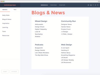 webdesignrepo V2 launched frontend curation webdesign