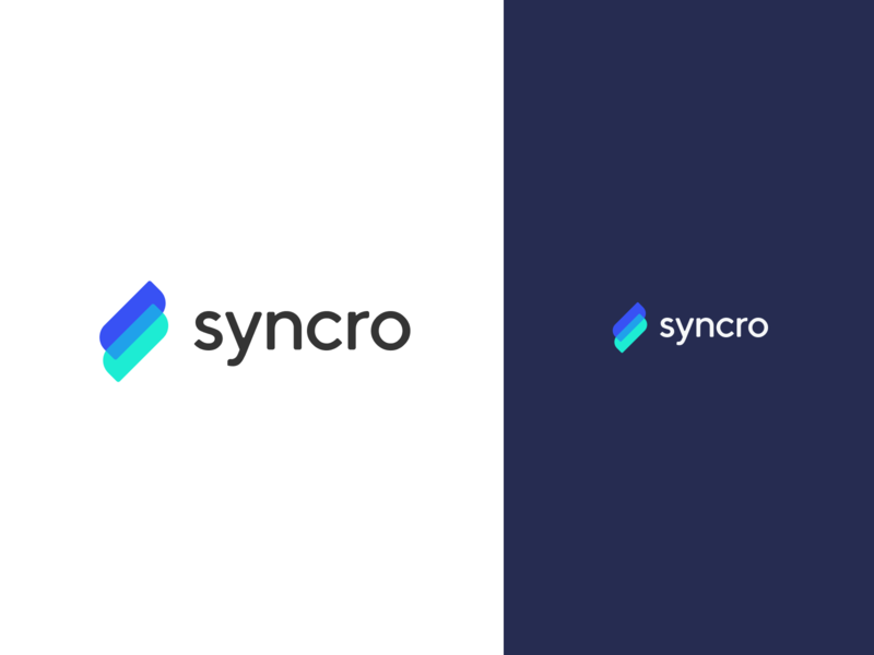 Syncro logo branding design logo flat