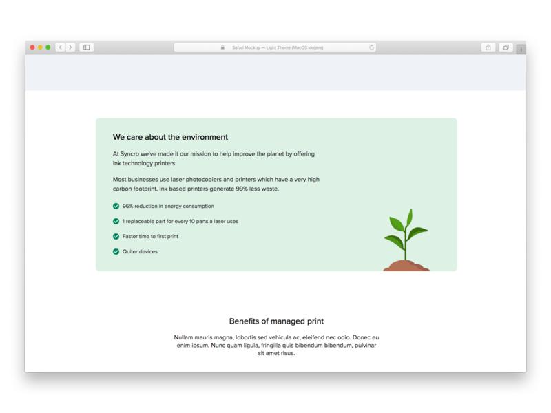 Environmental message ui frontend webdesign design flat