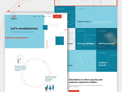 Halo Metrics Website web design ux design ui design grid website web desktop