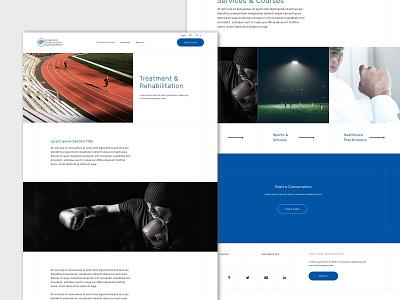 CCMI website ui grid desktop web web design ui design