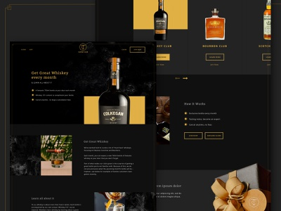 Taster's Club alcohol ui website design ecommerce ui design web design web desktop