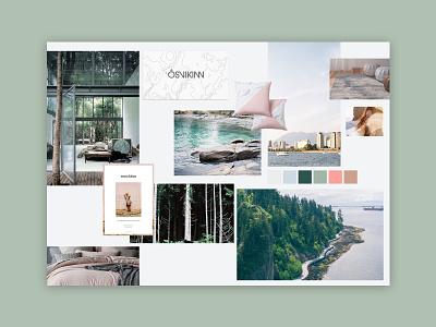 Moodboard Exploration green blue visual branding visual identity exploration west coast moodboard web design website ui design